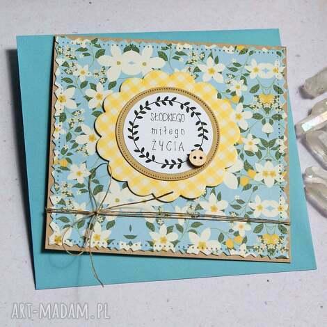 kartki kartka ślubna słodkiego miłego życia, ślub, ślubna, urodziny