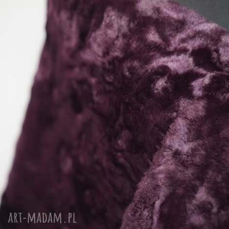 szal z futra purpurowy - szal, futro, purple, dodatek, fur, shawl