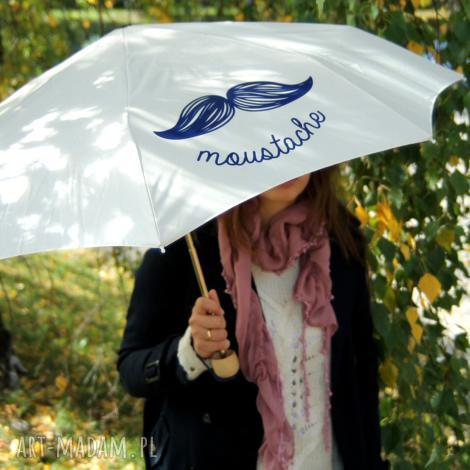 parasole moustache ecru parasol składany, parasolka, parasol, parasole, prezent
