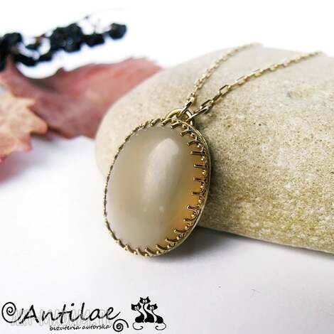 orumita i - kamień słoneczny, mosiądz, pozłacany mosiądz - moonstone