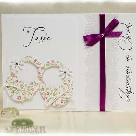 little shoes w kwiatki - zaproszenia na chrzest święty, zaproszenia, buciki