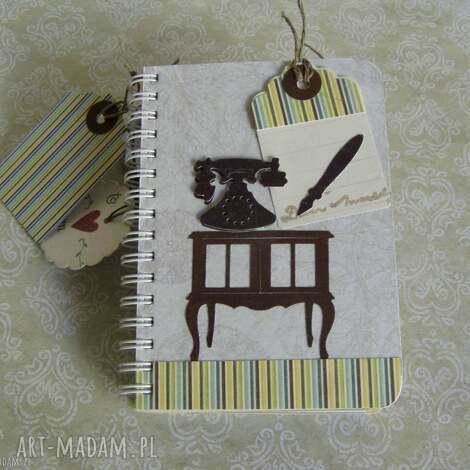 notesy elegancki notes w stylu vintage, notesy, album, pamiętnik, telefon, vintage