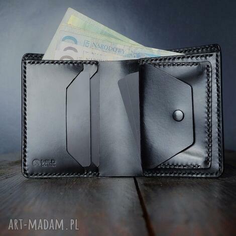 portfel męski z kieszonką na monety skórzany model długi 2