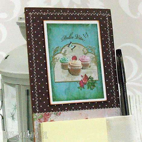 notes na lodówkę -muffinki, babeczki, mufinki, zapiśnik, magnes, notatnik