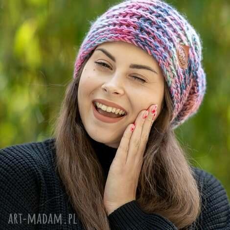 this is it bubble gum czapka, zimowa, wełniana, wełna zima, ręcznie zrobione