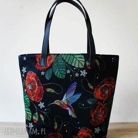 prezent na święta, ramię shopper bag bucket - maki, shopper, elegancka