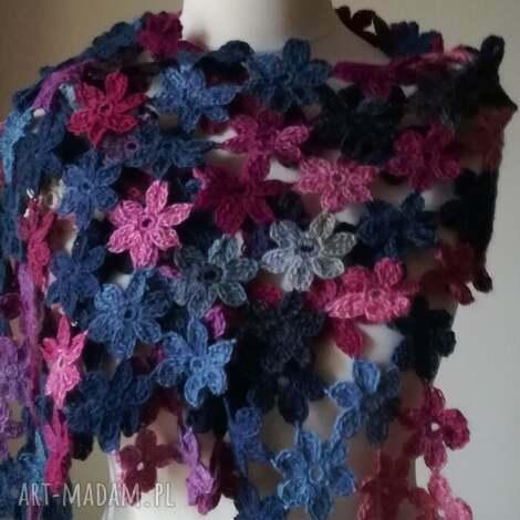art crochet stylowa zima - szal, rękodzieło, styl, prezent