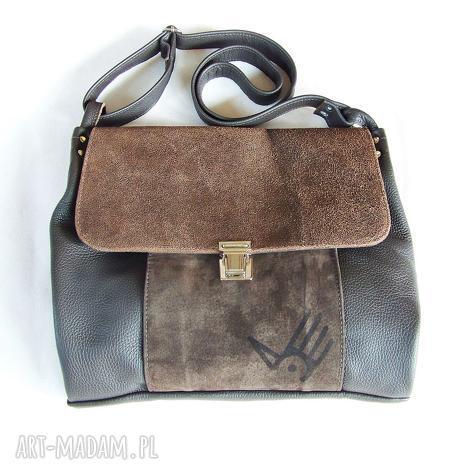 na ramię torba włóczykija a4, skóra, postarzana, zamszowa, wygodna, casual, leather