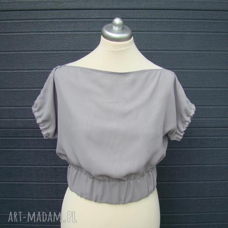 barska bluzka szyfonowa szara, bluzka, bluzeczka, lekka, szyfonowa, szyfon