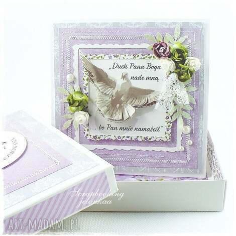 bierzmowanie - kartka - bierzmowanie, sakrament, duch, pudełko, pamiątka