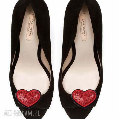 ozdoby do butów little hearts - klipsy butów, serca, cekiny, klipsy, broszki