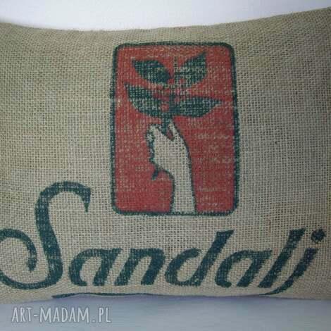 poduszki poduszka z juty, styl loft, recykling, industrial, juta, aksamit