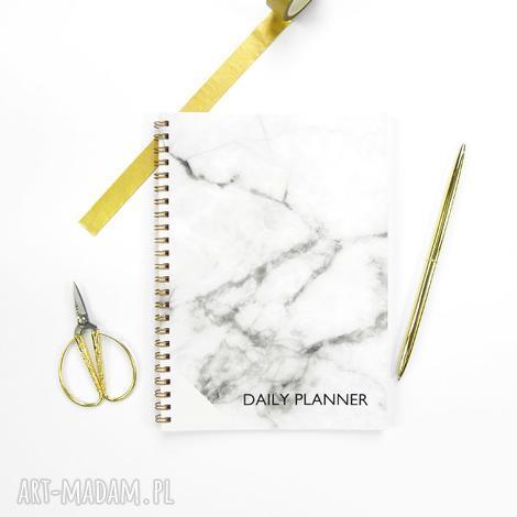 notesy szary marmurowy planer dzienny a5, notes spiralowany, notes
