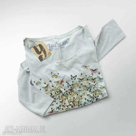 motyle serce bluzka oversize, szeroka, bluza, dekolt ubrania