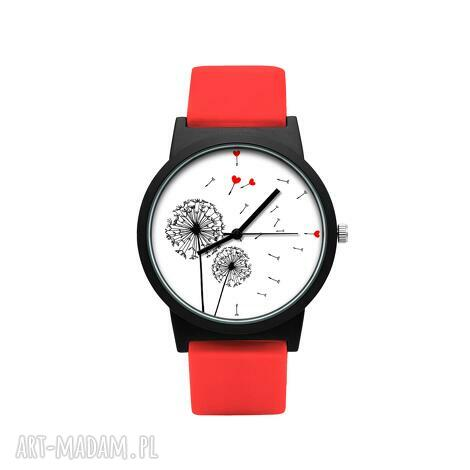 zegarek z silikonowym paskiem podmuch miłości, dmuchawiec, serduszko, miłość