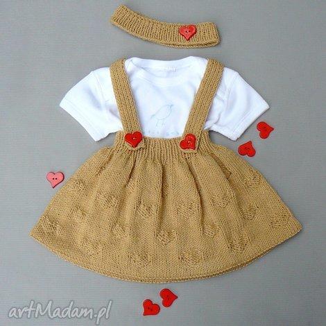 komplet agatka, spódnica, opaska, komplet, dziewczynka, prezent, niemowlę