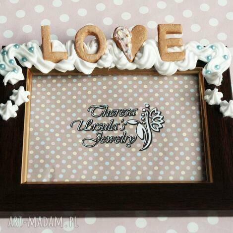 theresa ursulas jewelry słodka walentynkowa ramka, modelina, słodkości