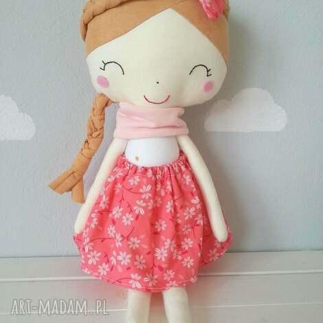 lalka wiosna - dziewczynka, szycie, bawełna, lalka, przytulanka, filc