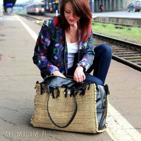 torba podróżna brązowa pojemna na weekend, torba, podróż, walizka, wyjazd