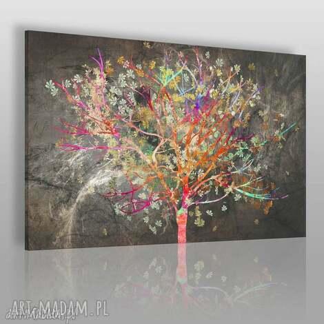 obraz na płótnie - drzewo liŚcie kolorowy - 120x80 cm 70401 - drzewo