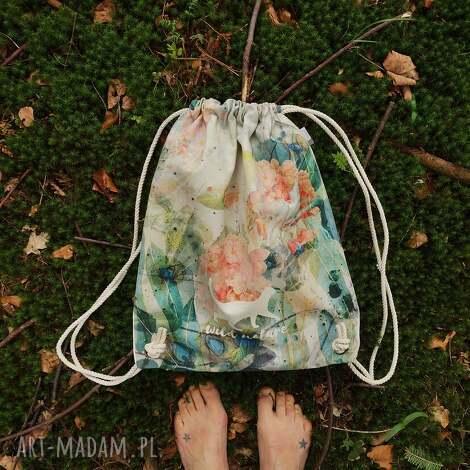 mimi monster wild nature plecak / worek torba - płócienna, wakacje, prezent