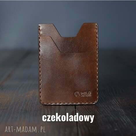 wildleather męski portfel skórzany minimalistyczny na karty