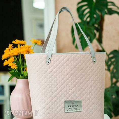 farbotka torebka shopperka city jasny, pastelowy róż 3942, polskamarka