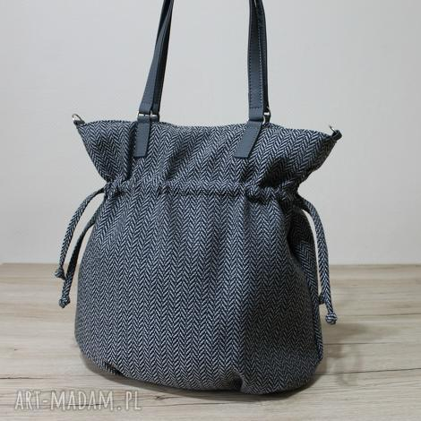 hobo sack - sakiewka tkanina w jodełkę, elegancka, jodełka, autumn, święta, prezent