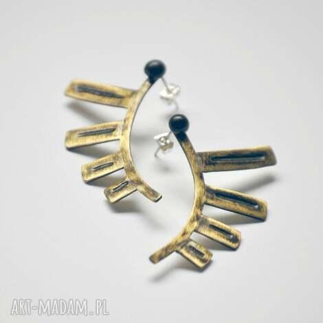elf wings, mosiądz, srebro, kolczyki biżuteria