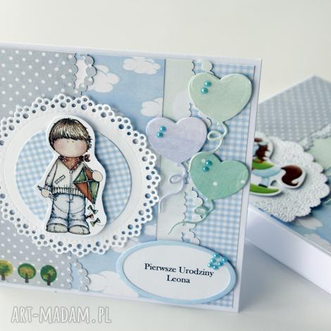 kartka na urodziny - kartka, urodziny, prezent, chłopiec