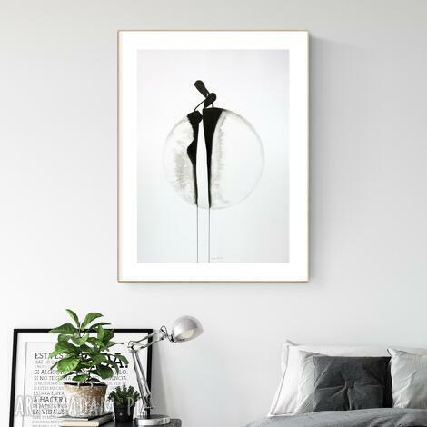 grafika 50x70 cm wykonana ręcznie, abstrakcja, styl skandynawski