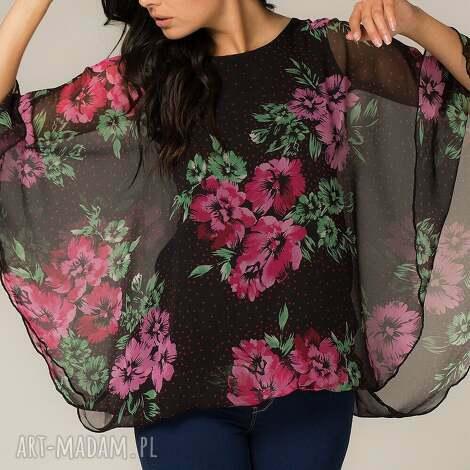 tessita bluzka róża 2, nietoperz, bluzka, swobodna, modna, lekka, zwiewna