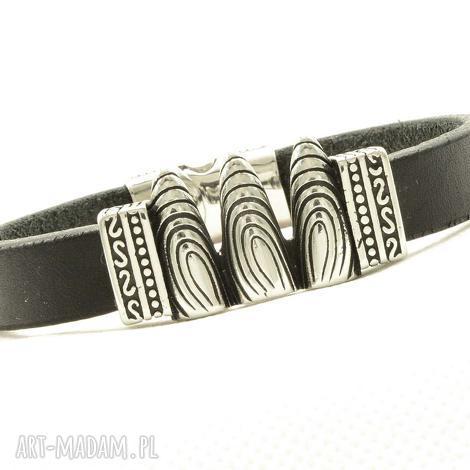 pmpb style smocze pazury czarna skórzana bransoletka dla mężczyzny, skórzana