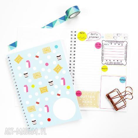 notesy planer dzienny, notes z planem dnia, spiralowany a5, 50 kartek