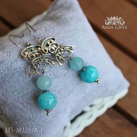 błękitne skarabeusze, boho, oksydowane, orientalne, gwiazdoo, jadeit