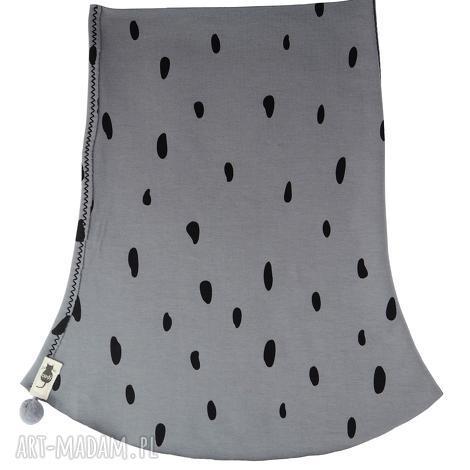 komin grey plamki, komin, szal, jesienny, dziecięcy, bawełna, print