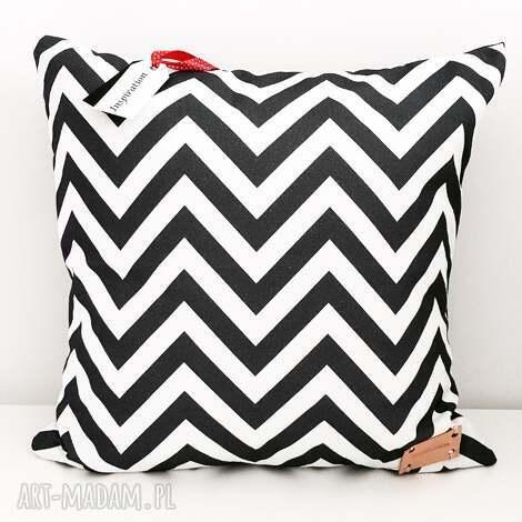 poduszka dekoracyjna geometric zygzak - poduszka, dekoracyjna, antyalergiczna, zygzak