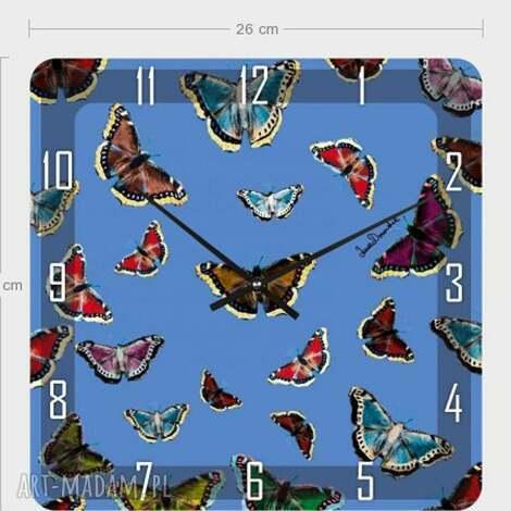 zegar akrylowy motyle, zegar, dom, dekoracja, nowoczesność, akryl
