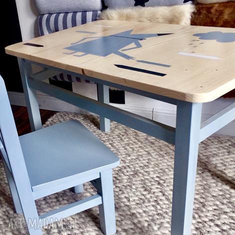 stolik i krzesełko maluch (meble dzieciece, meble drewniane)