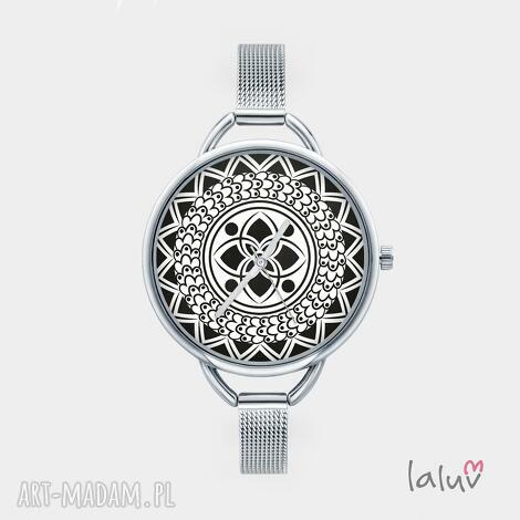 zegarek z grafiką mandala of happiness - szczęście, harmonia, zen, symbol