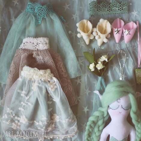 bajka z magiczną szafą - elfia lalka szmaragd, lalka, ubranka, komplet, wróżka, elf