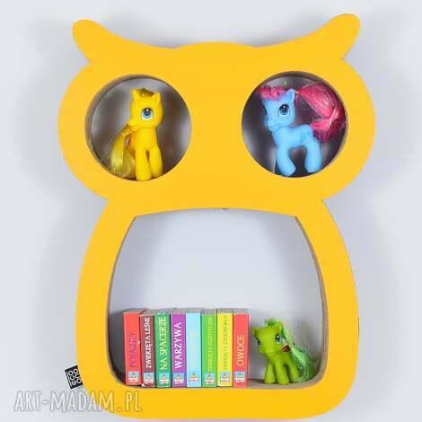 półka na książki zabawki sowa ecoono żółty - półka