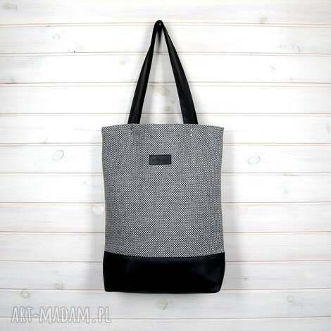 klasyczna torba na ramię pojemna wytrzymała zapinana - torebka, laptop, pojemna
