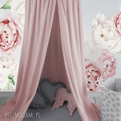 baldachim pudrowy róż - baldachim, pokój dziecięcy, namiot podwieszany