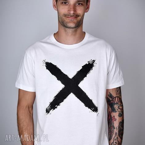 laczapakabra koszulka biała x - męska, koszulka, shirt, t minimal, męska