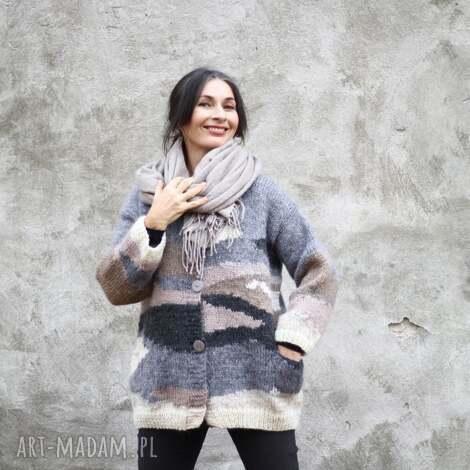 swetry sweter pastelowy, unikat, wełna, dzianina, rękodzieło, upominek