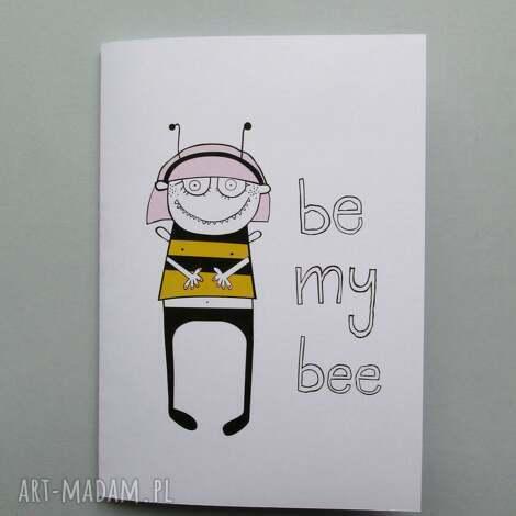 be my bee kartka składana - kartka, pszczółka, bee, miłość