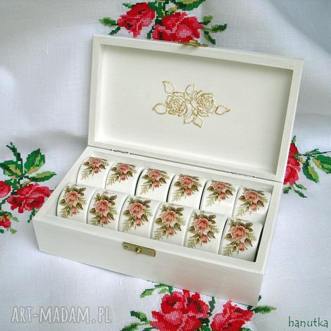 różane - pierścienie do serwetek, prezent, ślubny, ślub, romantyczne, róże