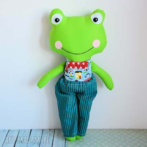 żabka - super kumpel - tomuś - 45 cm (żabka chłopczyk zabawka, bezpieczna)