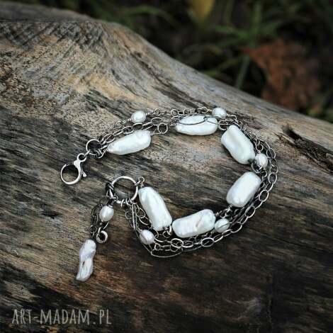 bransoletka z pereł, biwa, perły, perłami, pereł